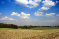 Summer landscape. A summer lanscape with impressive cloudy sky royalty free stock image