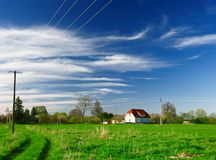 Summer landscape. Beautiful summer landscape of countryside Royalty Free Stock Photography