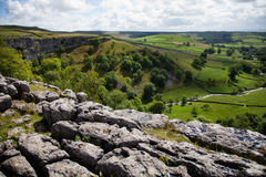 Summer landscape. Beautiful landscape in Yorkshire Dales National Park in England Stock Images