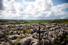 Summer landscape. Beautiful landscape in Yorkshire Dales National Park in England Stock Image