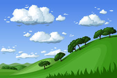 Summer landscape. Vector illustration. Royalty Free Stock Image