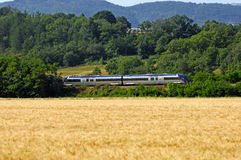 Summer landscape. With high-speed train, Provence, Frankreich Stock Images