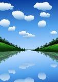 Summer_landscape ilustración del vector