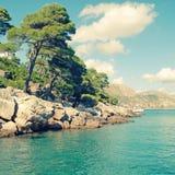 Summer landscape, Adriatic Sea ( Dalmatia, Croatia) Royalty Free Stock Photography