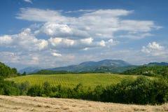Landscape in Montefeltro near Urbania Marches, Italy Royalty Free Stock Photos