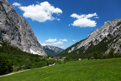 Summer landscape in the Alps Stock Photo