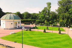 Summer landscape around a public park in the Malmo Sweden.  Royalty Free Stock Photography