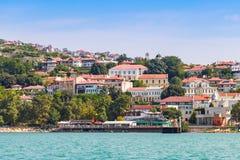 Summer landscape of Balchik, Bulgarian resort Stock Images