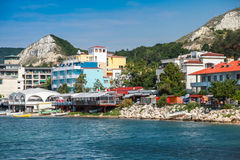 Summer landscape of Balchik town in Bulgaria Royalty Free Stock Photo