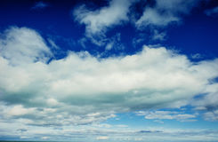 Summer landscape beautiful cumulus clouds Royalty Free Stock Photos