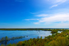 Summer landscape with beautiful river. Royalty Free Stock Photography