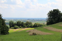 Summer landscape. Landscape in Belgium in the Summer Stock Image