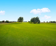 Summer landscape with blue sky Royalty Free Stock Image