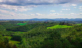 summer landscape and blue sky, Tuscany, Italy Royalty Free Stock Photo