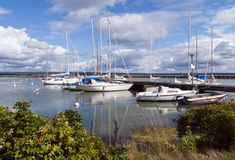 Summer landscape with boats Royalty Free Stock Photography