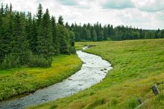 Summer landscape in Bohemian Forest. Czech Republic royalty free stock photography