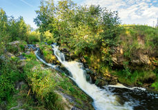 Summer landscape with bubbling stream, Russia, Ural Royalty Free Stock Photography