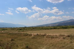 A summer landscape from Bulgaria, between Belasitsa and Ograzhden, at the end of the summer Stock Photos