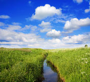 Summer landscape, canal Stock Photography
