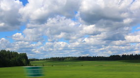 Summer landscape through car window Royalty Free Stock Photography