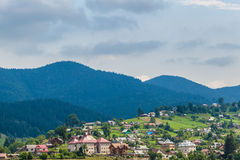 Summer landscape in Carpathians Royalty Free Stock Photo