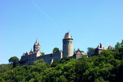Summer landscape with a castle Altena Royalty Free Stock Images
