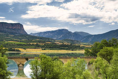 Summer landscape in Catalunya Stock Photos