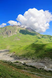 Summer landscape with Caucasus green mountains Stock Photography