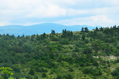 Summer landscape of Caucasus Mountains in Kabardinka Stock Photos