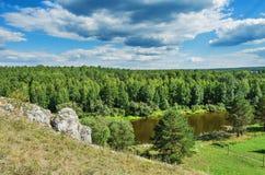 Summer landscape. The Chusovaya River Royalty Free Stock Images