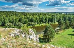 Summer landscape. The Chusovaya River Stock Photography
