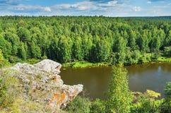 Summer landscape. The Chusovaya River Stock Image