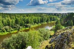 Summer landscape. The Chusovaya River Stock Photos