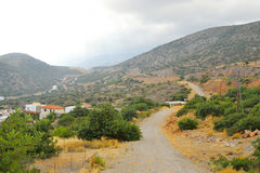 Summer landscape in Crete. Royalty Free Stock Photo