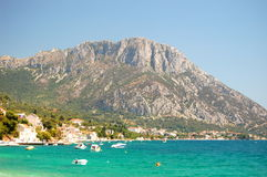 Picturesque view of adriatic coast of dalmatia in  Stock Photo