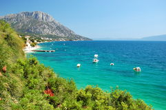 Picturesque view of adriatic coast of dalmatia in  Royalty Free Stock Photos