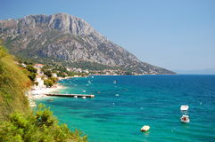 Picturesque view of adriatic coast of dalmatia in  Stock Images