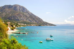 Picturesque view of adriatic coast of dalmatia in  Royalty Free Stock Photo