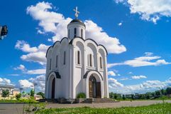 The Church of St.Michael the Grand Prince of Tver, who is known as heavenly patron of city of Tver, Russia, Tver. Summer landscape evokes admiration by cheerful Stock Image