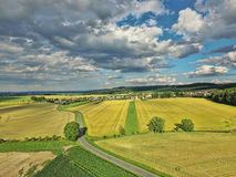 Summer landscape. With fields and meadows Royalty Free Stock Image