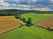 Summer landscape. With fields and meadows Royalty Free Stock Images