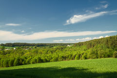 Summer landscape of fields and woods Stock Photos