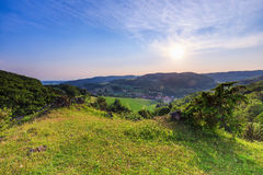 Summer Landscape in the Franconian Switzerland, Germany. Stock Image
