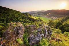 Summer Landscape in the Franconian Switzerland, Germany. Royalty Free Stock Photography