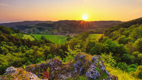 Summer Landscape in the Franconian Switzerland, Germany. Stock Photos