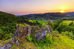 Summer Landscape in the Franconian Switzerland, Germany. Stock Photo