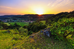 Summer Landscape in the Franconian Switzerland, Germany. Royalty Free Stock Image