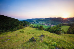 Summer Landscape in the Franconian Switzerland, Germany. Royalty Free Stock Images