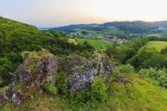 Summer Landscape in the Franconian Switzerland, Germany. Stock Photography