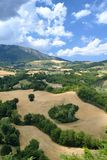 Landscape in Montefeltro from Frontino Marches, Italy Royalty Free Stock Images